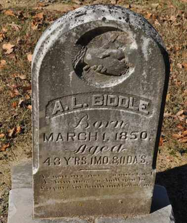 BIDDLE, A. L. - Shelby County, Tennessee | A. L. BIDDLE - Tennessee Gravestone Photos