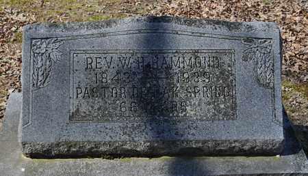 HAMMOND, W.H. (REV) - Shelby County, Tennessee | W.H. (REV) HAMMOND - Tennessee Gravestone Photos
