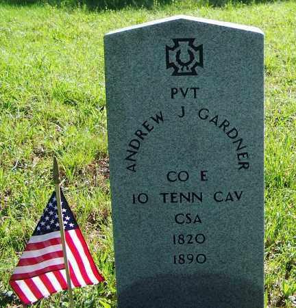 GARDNER (VETERAN CSA), ANDREW J. - Stewart County, Tennessee   ANDREW J. GARDNER (VETERAN CSA) - Tennessee Gravestone Photos