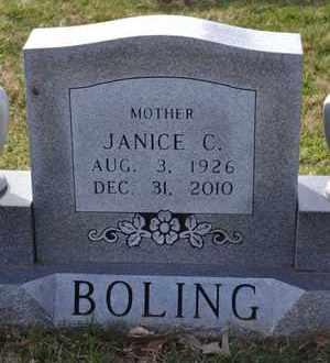 BOLING, JANICE C (CLOSE UP) - Sullivan County, Tennessee | JANICE C (CLOSE UP) BOLING - Tennessee Gravestone Photos