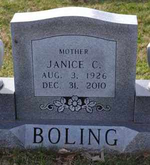 HICKS BOLING, JANICE C (CLOSE UP) - Sullivan County, Tennessee | JANICE C (CLOSE UP) HICKS BOLING - Tennessee Gravestone Photos