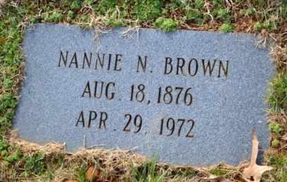 BROWN, NANNIE N - Sullivan County, Tennessee | NANNIE N BROWN - Tennessee Gravestone Photos