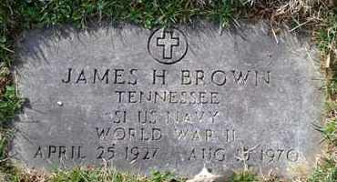 BROWN (VETERAN WWII), JAMES H - Sullivan County, Tennessee | JAMES H BROWN (VETERAN WWII) - Tennessee Gravestone Photos
