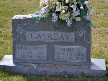 CASADAY, IRENE E - Sullivan County, Tennessee | IRENE E CASADAY - Tennessee Gravestone Photos