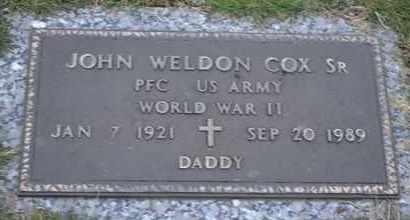 COX, SR (VETERAN WWII), JOHN WELDON - Sullivan County, Tennessee | JOHN WELDON COX, SR (VETERAN WWII) - Tennessee Gravestone Photos