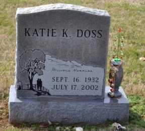 DOSS, KATIE K - Sullivan County, Tennessee | KATIE K DOSS - Tennessee Gravestone Photos