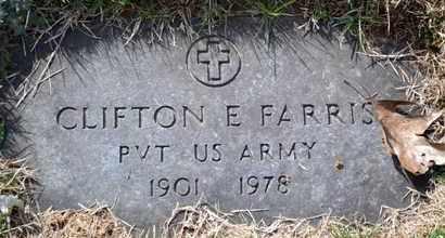 FARRIS (VETERAN), CLIFTON E - Sullivan County, Tennessee | CLIFTON E FARRIS (VETERAN) - Tennessee Gravestone Photos