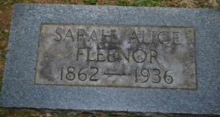 FLEENOR, SARAH ALICE - Sullivan County, Tennessee | SARAH ALICE FLEENOR - Tennessee Gravestone Photos