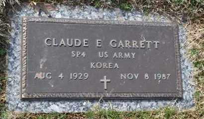 GARRETT (VETERAN KOR), CLAUDE E - Sullivan County, Tennessee | CLAUDE E GARRETT (VETERAN KOR) - Tennessee Gravestone Photos