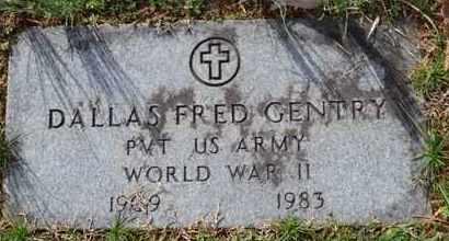 GENTRY (VETERAN WWII), DALLAS FRED - Sullivan County, Tennessee   DALLAS FRED GENTRY (VETERAN WWII) - Tennessee Gravestone Photos