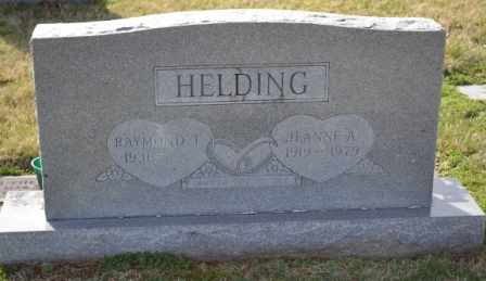 HELDING, JEANNE A - Sullivan County, Tennessee | JEANNE A HELDING - Tennessee Gravestone Photos