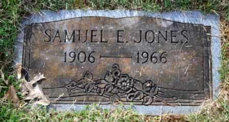 JONES, SAMUEL E - Sullivan County, Tennessee | SAMUEL E JONES - Tennessee Gravestone Photos
