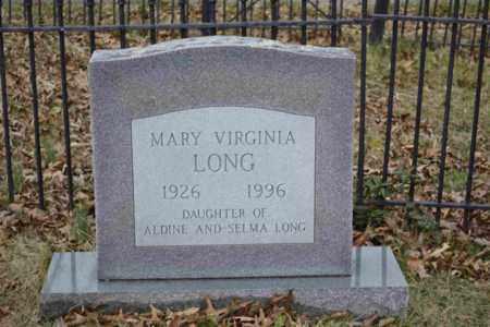 LONG, MARY VIRGINIA - Sullivan County, Tennessee | MARY VIRGINIA LONG - Tennessee Gravestone Photos