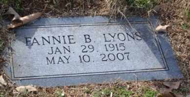 LYONS, FANNIE B - Sullivan County, Tennessee | FANNIE B LYONS - Tennessee Gravestone Photos