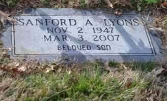 LYONS, SANFORD A - Sullivan County, Tennessee | SANFORD A LYONS - Tennessee Gravestone Photos