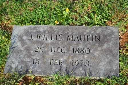 MAUPIN, J. WILLIS - Sullivan County, Tennessee | J. WILLIS MAUPIN - Tennessee Gravestone Photos