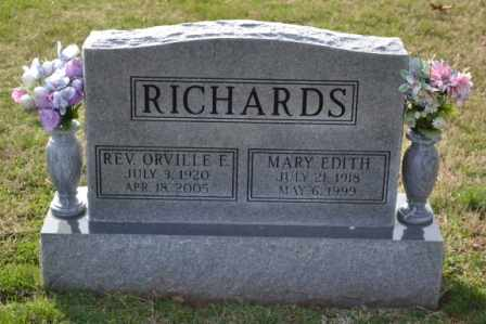 RICHARDS, ORVILLE E REVEREND - Sullivan County, Tennessee | ORVILLE E REVEREND RICHARDS - Tennessee Gravestone Photos