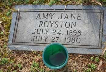 ROYSTON, AMY JANE - Sullivan County, Tennessee | AMY JANE ROYSTON - Tennessee Gravestone Photos