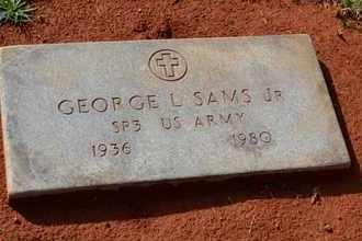 SAMS, JR (VETERAN), GEORGE L - Sullivan County, Tennessee   GEORGE L SAMS, JR (VETERAN) - Tennessee Gravestone Photos