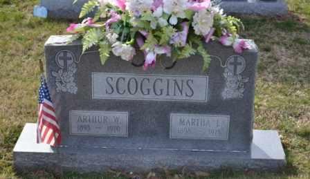 SCOGGINS, ARTHUR W - Sullivan County, Tennessee | ARTHUR W SCOGGINS - Tennessee Gravestone Photos