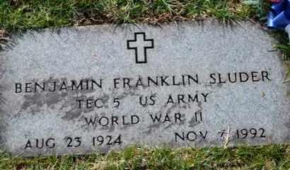 SLUDER (VETERAN WWII), BENJAMIN FRANKLIN - Sullivan County, Tennessee   BENJAMIN FRANKLIN SLUDER (VETERAN WWII) - Tennessee Gravestone Photos