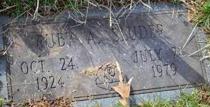 SLUDER, RUBY A - Sullivan County, Tennessee | RUBY A SLUDER - Tennessee Gravestone Photos
