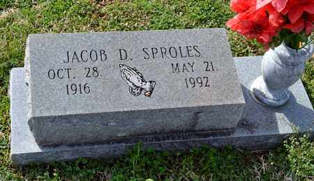 SPROLES, JACOB D - Sullivan County, Tennessee | JACOB D SPROLES - Tennessee Gravestone Photos