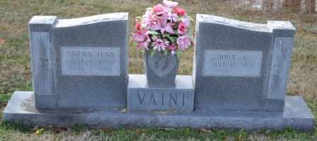 VAINI, NORMA JEAN - Sullivan County, Tennessee   NORMA JEAN VAINI - Tennessee Gravestone Photos
