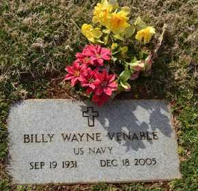 VENABLE (VETERAN), BILLY WAYNE - Sullivan County, Tennessee | BILLY WAYNE VENABLE (VETERAN) - Tennessee Gravestone Photos