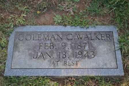 WALKER, COLEMAN C - Sullivan County, Tennessee | COLEMAN C WALKER - Tennessee Gravestone Photos