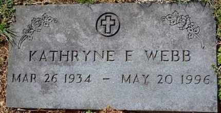 WEBB, KATHRYNE E - Sullivan County, Tennessee | KATHRYNE E WEBB - Tennessee Gravestone Photos