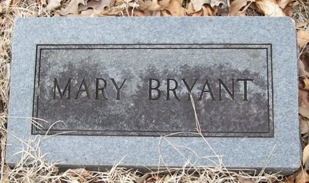BRYANT, MARY - Warren County, Tennessee | MARY BRYANT - Tennessee Gravestone Photos