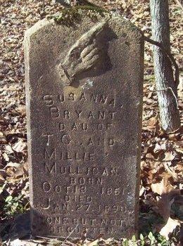 BRYANT, SUSANNA - Warren County, Tennessee | SUSANNA BRYANT - Tennessee Gravestone Photos