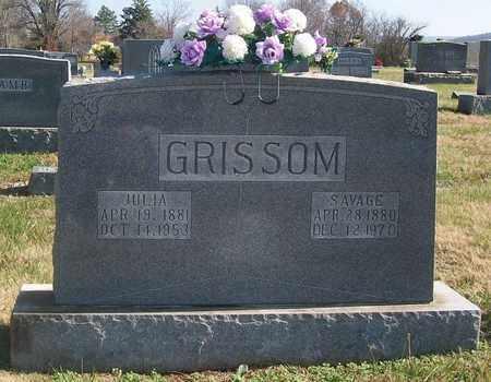 GRISSOM, SAVAGE - Warren County, Tennessee | SAVAGE GRISSOM - Tennessee Gravestone Photos