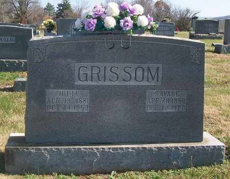 GRISSOM, SAVAGE - Warren County, Tennessee | SAVAGE GRISSOM - Tennessee Gravestone Photos