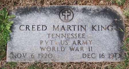 KING (VETERAN WWII), CREED MARTIN - Warren County, Tennessee | CREED MARTIN KING (VETERAN WWII) - Tennessee Gravestone Photos