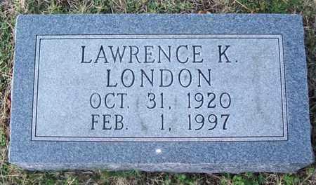 LONDON, LAWRENCE K. - Warren County, Tennessee   LAWRENCE K. LONDON - Tennessee Gravestone Photos