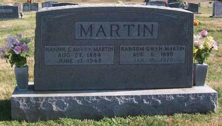 MCVEY MARTIN, NANNIE - Warren County, Tennessee | NANNIE MCVEY MARTIN - Tennessee Gravestone Photos