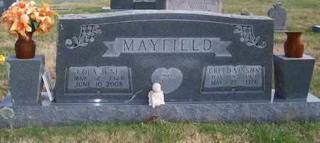 MAYFIELD, CREED VINSON - Warren County, Tennessee | CREED VINSON MAYFIELD - Tennessee Gravestone Photos