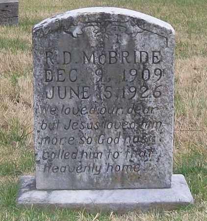 MCBRIDE, R. D. - Warren County, Tennessee | R. D. MCBRIDE - Tennessee Gravestone Photos