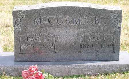 MCCORMICK, DAVE L. - Warren County, Tennessee | DAVE L. MCCORMICK - Tennessee Gravestone Photos