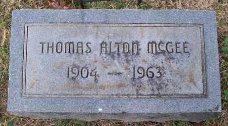 MCGEE, THOMAS ALTON - Warren County, Tennessee | THOMAS ALTON MCGEE - Tennessee Gravestone Photos
