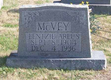 MCVEY, LENTZIE ARLUS - Warren County, Tennessee | LENTZIE ARLUS MCVEY - Tennessee Gravestone Photos