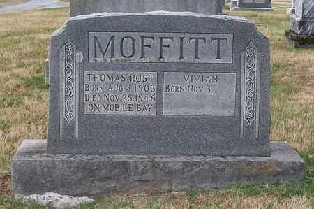 MOFFITT, THOMAS RUST - Warren County, Tennessee | THOMAS RUST MOFFITT - Tennessee Gravestone Photos
