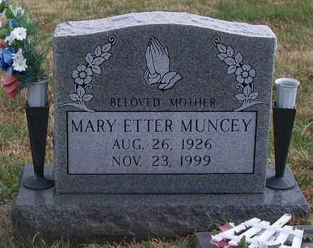 ETTER MUNCEY, MARY - Warren County, Tennessee | MARY ETTER MUNCEY - Tennessee Gravestone Photos
