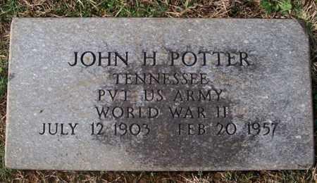 POTTER (VETERAN WWII), JOHN H. - Warren County, Tennessee | JOHN H. POTTER (VETERAN WWII) - Tennessee Gravestone Photos