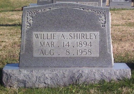 SHIRLEY, WILLIE A. - Warren County, Tennessee | WILLIE A. SHIRLEY - Tennessee Gravestone Photos