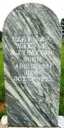 THAXTON, MARY A. - Warren County, Tennessee | MARY A. THAXTON - Tennessee Gravestone Photos
