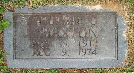 THAXTON, THURMAN G. - Warren County, Tennessee   THURMAN G. THAXTON - Tennessee Gravestone Photos