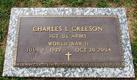 GREESON (VETERAN WWII), CHARLES L. - Wayne County, Tennessee | CHARLES L. GREESON (VETERAN WWII) - Tennessee Gravestone Photos